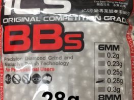 ICS White 6mm .28g Competition Grade BB's (3751 Resealable Bag) SALE