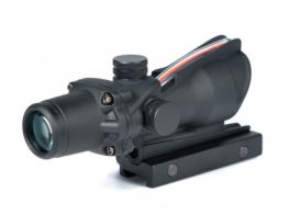 Gbase Wide field of View ACOG 4X32 Sight (Fake Fiber)(Black)