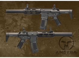 Ares Amoeba Short Honey Badger with Extended Silencer AEG Airsoft gun AM-014