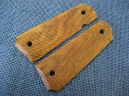 CAROM (Wood Grip) for M1911 (Rosewood checkered pattern)