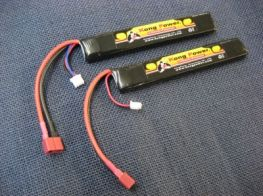 Kong Power 7.4v 1300mAh 20c LiPo Rechargeable Battery (Stick Pack)(Deans) 2 packs