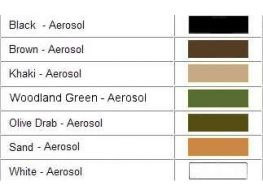 Krylon Camouflage Paint Colour Comparisons