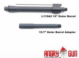 Angry Gun L119A2 10 Inch & 15.7 Inch Outer Barrel Set for Marui MWS version.