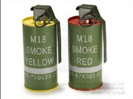 G&G 2 x M18 Dummy Smoke Grenade BB Container Set (Red & Yellow)