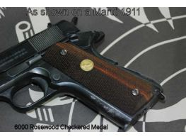 CAROM Wood Grip for M1911 Rosewood Checkered Medal