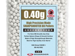 Guarder High Precision .40g BB's 1000 rnd Resealable Bag (White)
