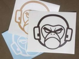 Mil-Spec Monkey Logo Sticker LightBrown