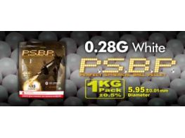 G&G .28g Perfect BB's 3750 rnd Resealable Bag (White)