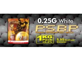 G&G .25g Perfect BB's 4000 rnd Resealable Bag (White)