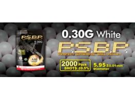 G&G .30g Perfect BB's 2000 rnd Resealable Bag (White)