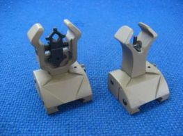 Gbase DM Front and Rear Folding Sights (Dark Earth)