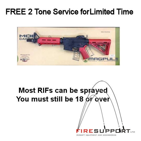 Fire-Support Two-Tone Spray Option for AEG's / Snipers / Shotguns for Non Registered Players