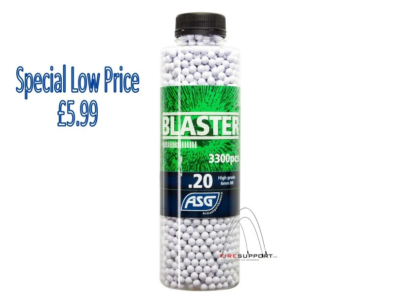 ASG Blaster .20g BB's 3300 rnd Bottle (White)