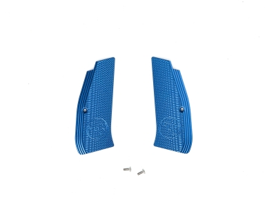 ASG Metal Grip Shells with CZ logo for CZ SP-01 Shadow (Blue)