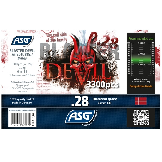 ASG Blaster Devil .28g BB's 3300 rnd Bottle (White)