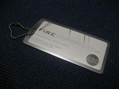 Fire-Support Fifty (50) Pound Dog Tag Gift Voucher