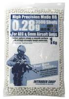 Guarder High Precision .28g BB's 3500 rnd Resealable Bag (White)