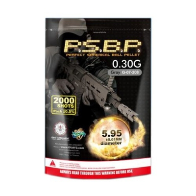 G&G .30g Perfect BB's 2000 rnd Resealable Bag (Grey)