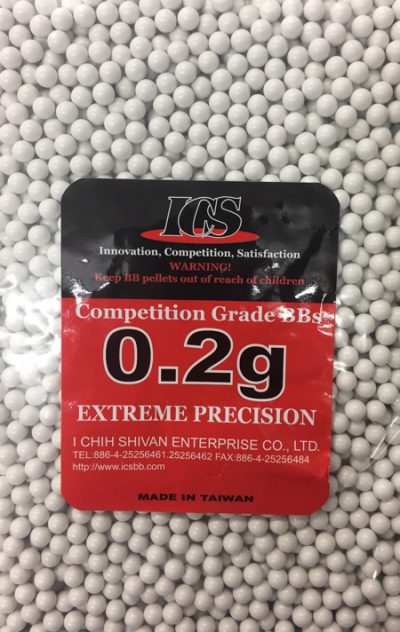 ICS White 6mm .20g Competition Grade BB's (5000 Resealable Bag) SALE