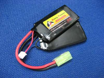 Kong Power 7.4v 1000mAh 20c LiPo Rechargeable Battery (Split Pack)(Mini Tamiya)