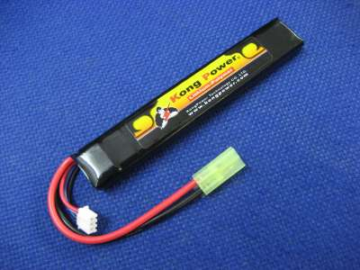 Kong Power 7.4v 1300mAh 20c LiPo Rechargeable Battery (Buffer Tube Pack)(Mini Tamiya)