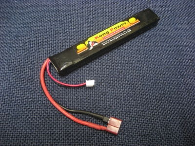 Kong Power 7.4v 1300mAh 20c LiPo Rechargeable Battery (Stick Pack)(Deans)