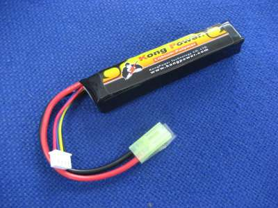 Kong Power 11.1v 900mAh 20c LiPo Rechargeable Battery (Single Buffer Tube Pack)(Mini Tamiya)