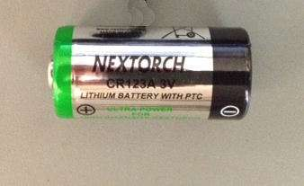 NexTorch CR123A batterys for Laser and Lights