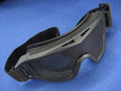 Red Star Wire Mesh Adjustable Goggles Black