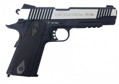 KWC MILBRO 1911 Rail Dual Tone CO2 6mm GBB Pistol.